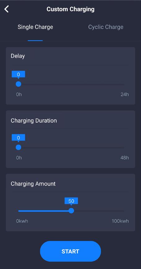EMC2 EVSE aplikacija custom nastavitve